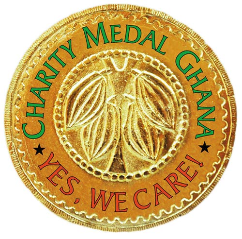 Website of Charity Medal Ghana, a charity action of the Mamaga Akosua Foundation in Ghana.